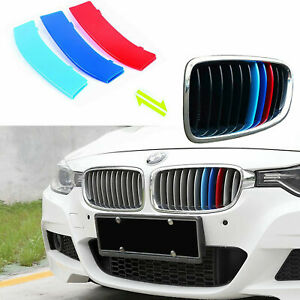 M Color Front Standard Grille Kidney Insert Trims Cover For Bmw F30 F32 3 4 S