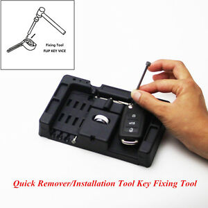 Car Vehicle Flip Key Vice Fixing Pin Remove Tool Quick Remover Installation Tool