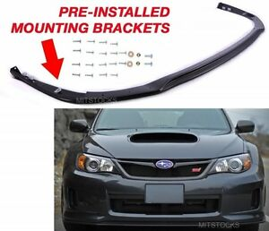 Fit For 11 14 Subaru Wrx Sti V Limited Jdm Front Bumper Lip Spoiler Body Kit Pp
