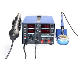 Hot Air Rework Station 2a 220v Usb Soldering Rework Station Yihua 853d New 3in T