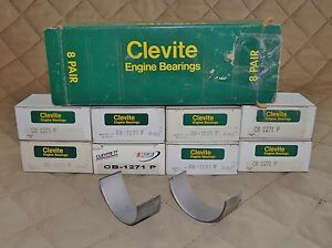 Clevite Cb1271p Std Deltawall Hi Perf Rod Bearing Set For 57 67 Chevy 283