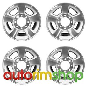 Dodge Ram 1500 2500 3500 17 Factory Oem Wheels Rims Set Machined With Silver 57