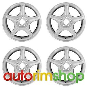 Ford Mustang 1999 2004 17 Factory Oem Wheels Rims Set Silver F9zz1007ca