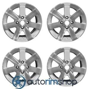 Nissan Sentra 2006 2012 16 Factory Oem Wheels Rims Set Machined With Silver