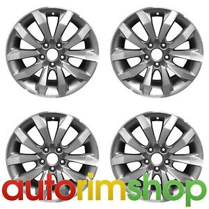 New 17 Replacement Wheels Rims For Honda Civic Si Set Machined With Charcoal