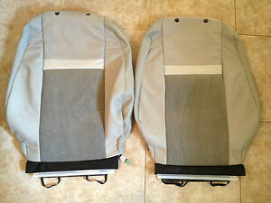 2012 Toyota Camry Factory Original Front Leather Heated Seat Covers gray