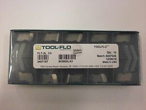 10pc Toolflo Flt 3l C3 Top Notch Coated Carbide 60 V Threading Inserts Nt 3l