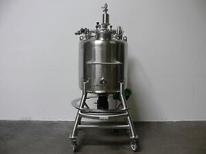 Stainless Tech 200 Liter 316l Stainless Steel Bio reactor W Sterile Mixer