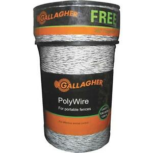 Gallagher 1620 Poly 6 Strand Steel Electric Fence Wire Combo Roll G620300