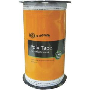 Gallagher White 1 2 X 656 Electric Fence 5 Steel Strand Poly Tape G62304