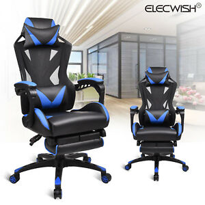Office Gaming Chair Mesh Back Executive Desk Seat Swivel Adjustable Footrest