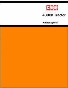 Case 430ck constructoin King Tractor Parts Catalog Book Reproduction