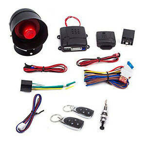 1 Way Universal Car Alarm Security Keyless Entry System With Two 2 Remote