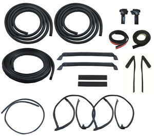 1984 1986 Ford Mustang T Top 18pc Weatherstrip Weatherstripping Rubber Seal Kit