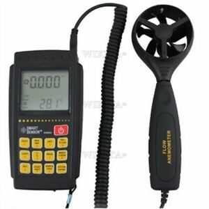 Smart Sensor Ar856 Air Flow Anemometer Infrared Temperature Meter Usb Softwar Oh