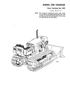 Case 350 Crawler Tractor Parts Catalog Book Reproduction Revision 1