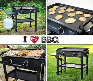 Gas Flat Top Grill Restaurant Professional Commercial Griddle Two Burner Cooker