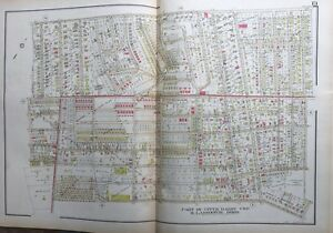 Orig 1929 Delaware County Pa Upper Darby Twp Lansdowne Boro Plaza Hall Atlas Map