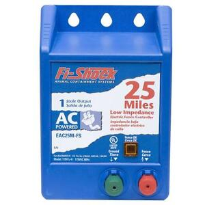 Fi Shock 25 Mile Ac Fencer 2 Year Warranty Fence Charger Controller Eac25m Fs