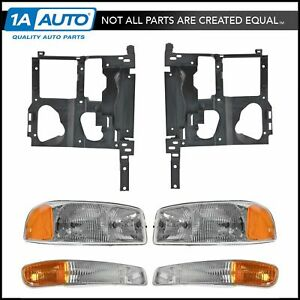Headlight Parking Light Lamp Mounting Bracket Kit Rh Lh For 99 07 Sierra New