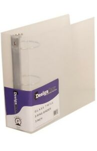 New Jam Plastic 3 Ring Binder 3 Inch Clear 821t3cl Case Of 12