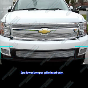For 2007 2013 Chevy Silverado 1500 07 10 2500 3500 Billet Grille Grill Insert