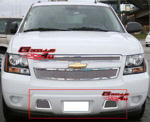 For 2007 2014 Tahoe Avalanche Suburban Bumper Mesh Grille Grill Insert