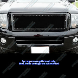For 2007 2013 Ford Expedition Stainless Steel Black Rivet Studs Grille Inserts