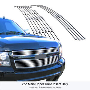 For 2007 2014 Chevy Tahoe suburban avalanche Billet Grille Grill Insert