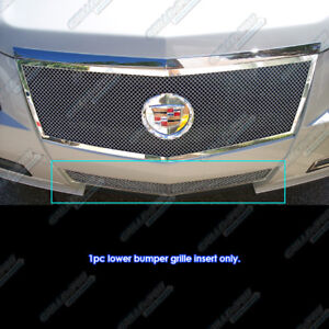 For 2008 2013 Cadillac Cts Bumper Stainless Steel Mesh Grille Grill Insert