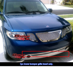 Fits 07 10 Saab 9 7x Lower Bumper Stainless Mesh Grille Insert