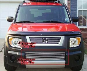 Fits 2003 2006 Honda Element Lower Bumper Billet Grille Insert