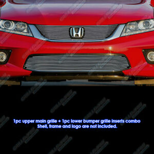 Fits 2013 2015 Honda Accord Coupe Billet Grille Combo
