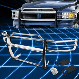 Chrome Brush Bumper Protector Grille Guard For 1999 2001 Dodge Ram 1500 Sport