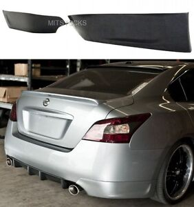 Fit 2009 2014 Nissan Maxima St Style Pu Add On Rear Bumper Lip Aprons 2 Pcs