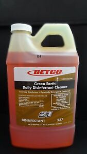 4 Betco Green Earth Daily Multi purpose Germicidal Disinfectant Cleaner 2 L
