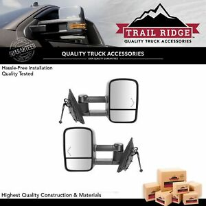 Trail Ridge Tow Mirror Power Heated Chevron Signal Pair Set For Silverado Sierra