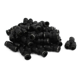 30pcs Y Type Pneumatic Air 3 Way Quick Fittings Connector 10mm To 8mm Tube Hose