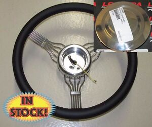 Banjo Blp Banjo Steering Wheel W Adapter Plain Horn Button Black