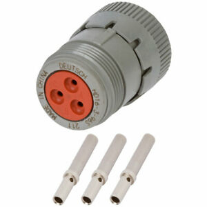 Hd16 3 96s Deutsch 3 Way Plug Connector Kit W 20 16 Awg Solid Contacts