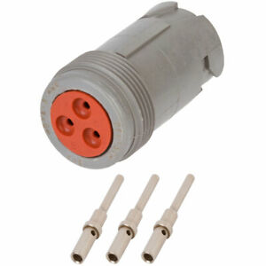 Hd14 3 96p Deutsch 3 Way Receptacle Connector Kit W 20 16 Awg Solid Contacts