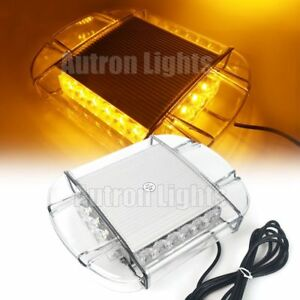 11 20w Led Emergency Beacon Roof Top Mini Security Flash Strobe Light Bar Amber