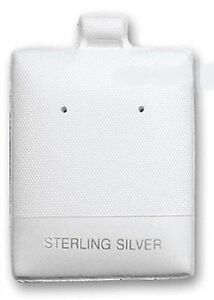 400 White Sterling Silver Earring Puff Pads Cards 1 3 4 h X 1 1 2 w