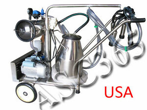 Milker Electric Vacuum Pump Milking Machine For Cows Farm Bucket