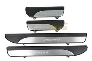 Stainless Door Sill Scuff Plate Guards Sills For Honda Accord 2013 2014 4pcs