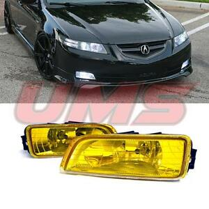 For 03 08 Honda Accord 4dr 03 07 Acura Tl Yellow Fog Lights W Wiring Switch