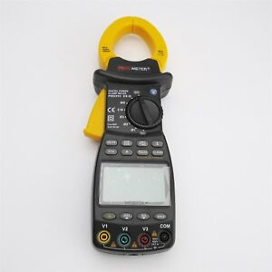New Brand 3 Three Phase Digital Power Clamp Meter Tester 9999 Counts 20 1000h Fc