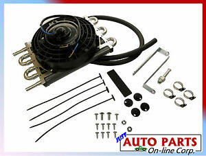 Universal Transmission Oil Cooler W Fan 8 With Hose And Kit Fluid Cooler New