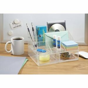 Interdesign Linus Office Supplies Desk Organizer With Dra W