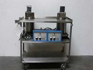Lot Of 2 Rosemount Temperature Calibration Bath Cart 910a2 913ah Controller